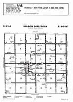 Sharon Township Directory Map, Barber County 2006